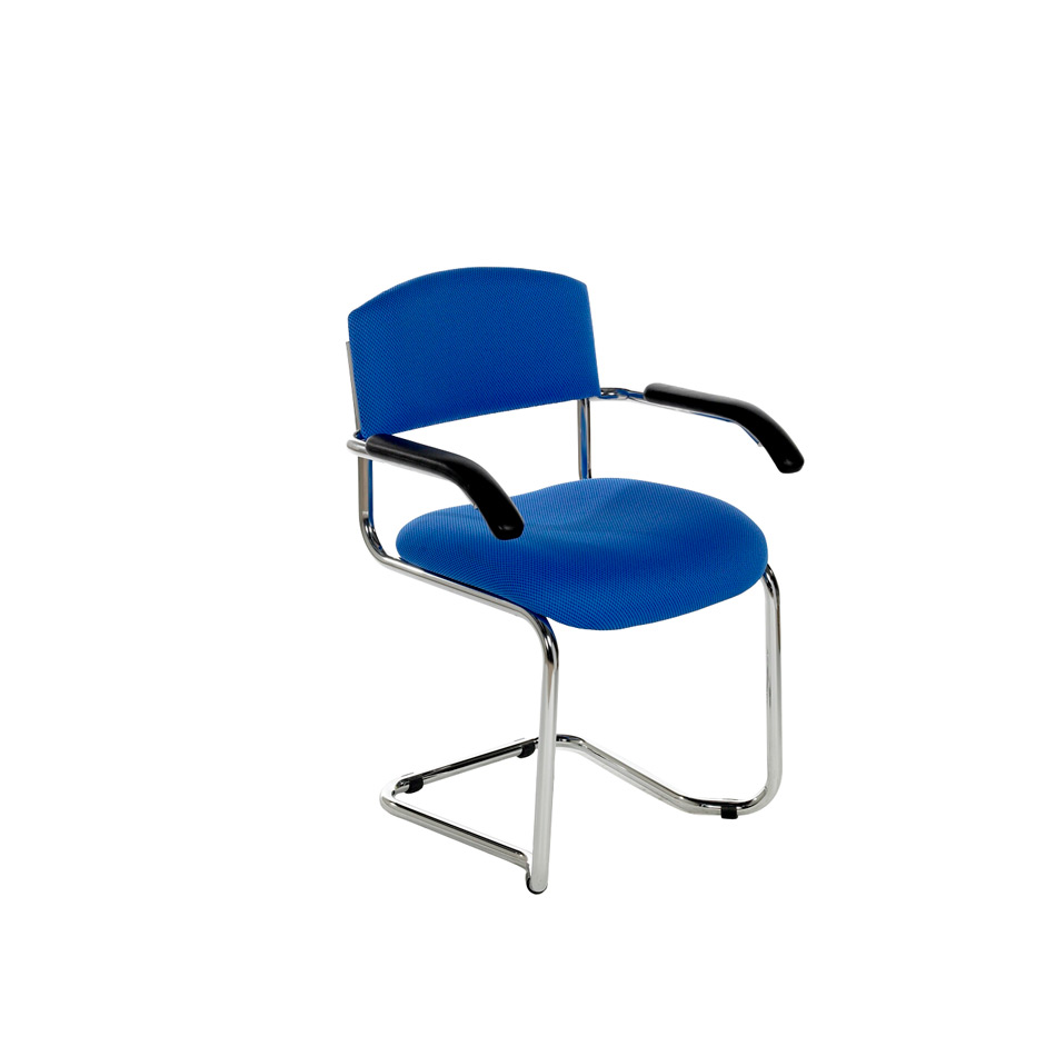 NOE Chrome Cantilever Arm Chair