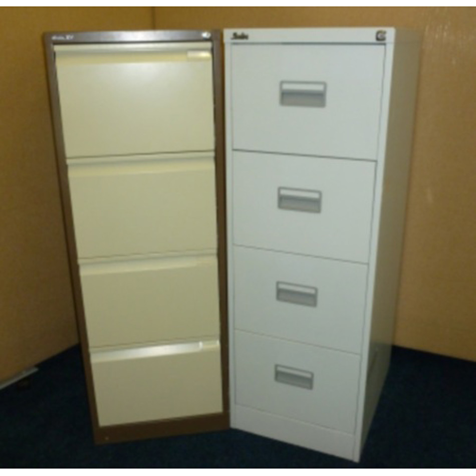 Used 4 Drawer Metal Filing Cabinet
