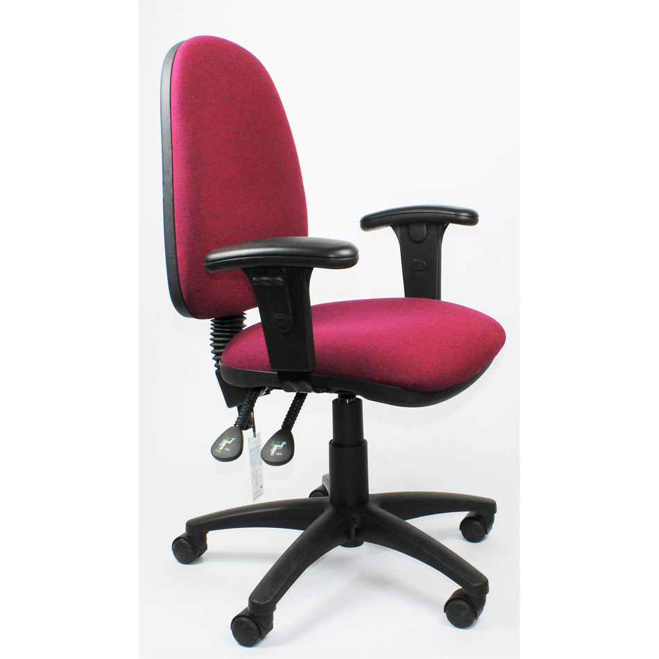 Used High Back Operator Chair With Adjustable Arms